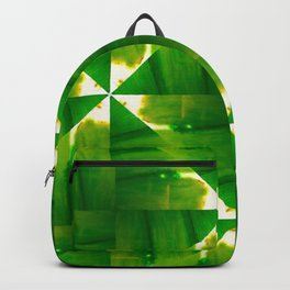Abstract green grass geometric design Backpack