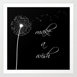 Make a wish - inverted Art Print
