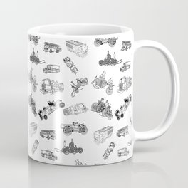 Fire Trucks - Old and New Coffee Mug