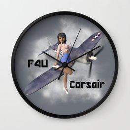 F4U Pin Up Art Wall Clock