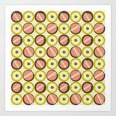 Dim Sum Plates Art Print