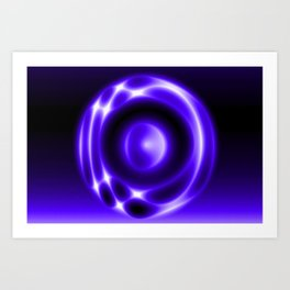 Glowing JANII28B Art Print