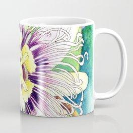Passiflora edulis f. flavicarpa – Liliko'i, Water Color Coffee Mug