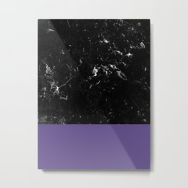 Ultra Violet Meets Black Marble #1 #decor #art #society6 Metal Print