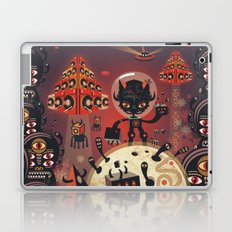 DJ Hammerhand cat - party at ogm garden Laptop & iPad Skin
