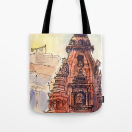 Bhaktapur Temple Tote Bag