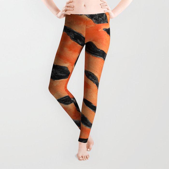 Tiger Stripes (Orange/Black) Leggings