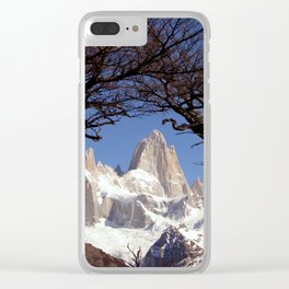 Fitz Roy Mountain Landscape (Patagonia, South America) Clear iPhone Case