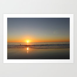 Strand Sunset Art Print