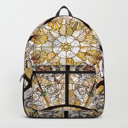 Stained glass window glass ceiling Backpack