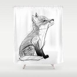 Fox Pup Shower Curtain