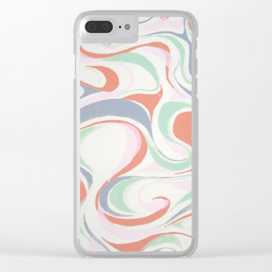 Abstract print design Clear iPhone Case