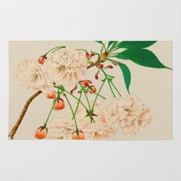 Fugen's Elephant Cherry Blossoms Rug