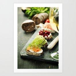 healthy sandwiches Art Print