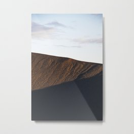 Hverfjall crater at midnight Metal Print