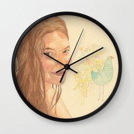 The bird girl Wall Clock