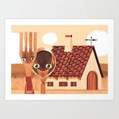 Kitchen Gothic Art Print