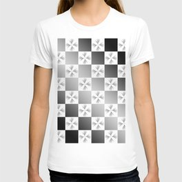 Pussy Checkerboard Abstract T-shirt