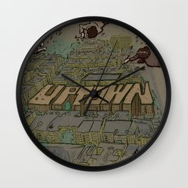 Drawing Uptown Wall Clock