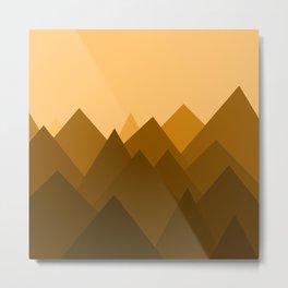 Abstract Sand Dunes Metal Print