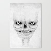 calavera Canvas Prints featuring Calavera by Cobrinha