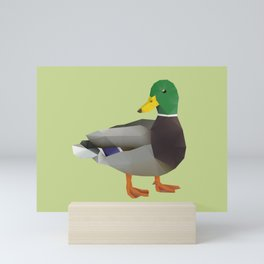 Mallard Duck Polygon Art Mini Art Print