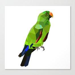 Eclectus parrot Geometric bird art Canvas Print