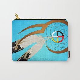 dreamcatcher blue Carry-All Pouch