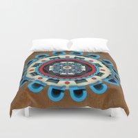 sacred geometry Duvet Covers featuring Sacred Geometry by Angel Decuir