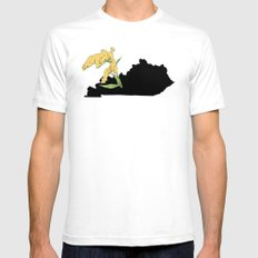 Kentucky Silhouette White SMALL Mens Fitted Tee