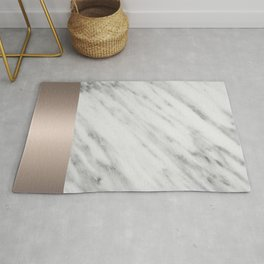 Carrara Italian Marble Holiday White Gold Edition Rug