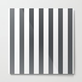 Grey and white stripes Metal Print