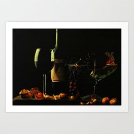 Still Life With Wine Art Print
