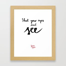 See-white Framed Art Print