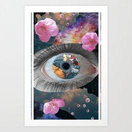 crazy eye Art Print