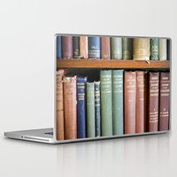 library Laptop & iPad Skins featuring Library Wisdom by Jean Ladzinski