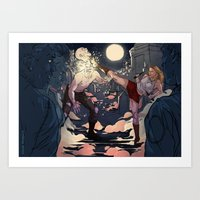 buffy Art Prints featuring Buffy by Karina R