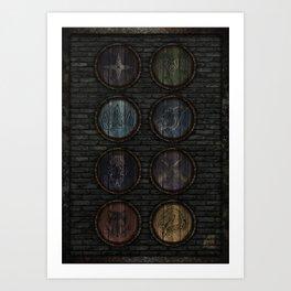 Medieval Shields Art Print