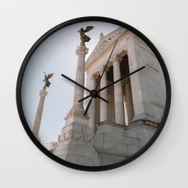 Italy Photography - Ancient Building In Rome Wall Clock