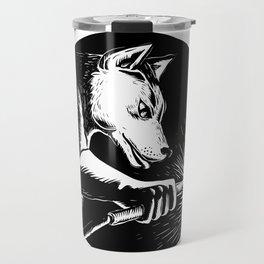Dingo Dog Welder Scratchboard Travel Mug