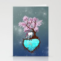 the last unicorn Stationery Cards featuring Last Unicorn by Astrablink7