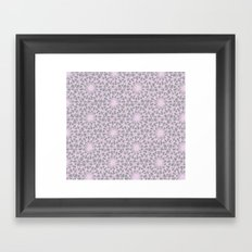 geometric vintage lilac/grey Framed Art Print