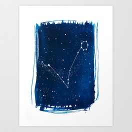 Pisces Zodiac Print Art Print
