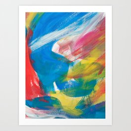 Abstract Artwork Colourful #4 Art Print