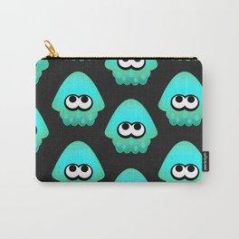 Splatoon Squid Pattern Cyan Carry-All Pouch