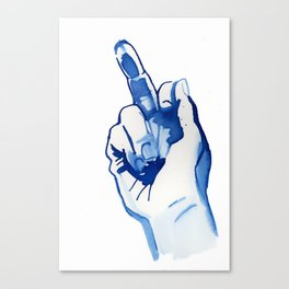 "Flipping finger "" fuck off "" Canvas Print"
