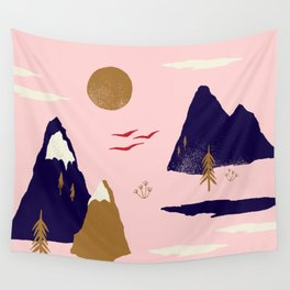 Mountain Scape Wall Tapestry