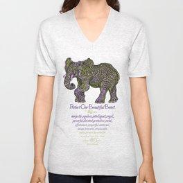 Elephant are Beautiful Unisex V-Neck