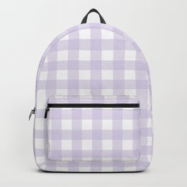 Lilac gingham pattern Backpack