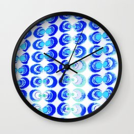 Blue circles fabric Wall Clock